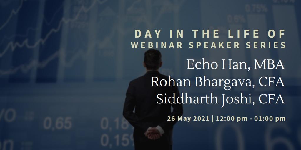 vimeo - Day In the Life Of:  Echo Han, MBA, Rohan Bhargava, CFA, Siddharth Joshi, CFA