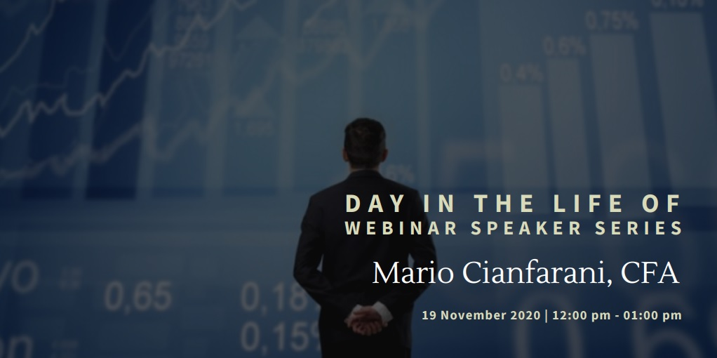 vimeo - Day In the Life Of:  Mario Cianfarani, CFA